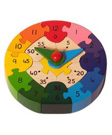 Shumee 3D Wooden Clock Jigsaw Puzzle - 17 Pieces