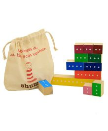 Shumee Wooden Fraction Blocks - 16 Pieces