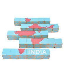 Shumee Wooden India Blocks - 30 Pieces