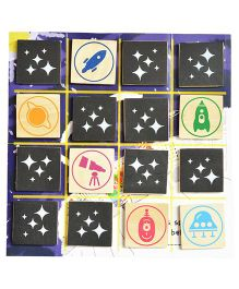 Shumee Wooden Match Squares Board Game