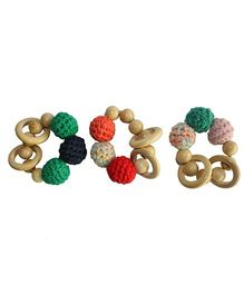 Shumee Wooden Rattle Ring - Multicolor