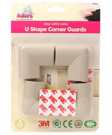 Adore Baby U Shape Corner Guards Pack of 4 - Grey