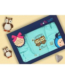 Knotty Kids Owl Print Premium Gift Set - Blue