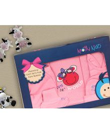 Knotty Kids Cow Print Premium Gift Set - Pink