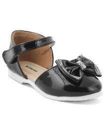 Kittens Shoes Sandals Embellished Bow - Black