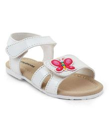 Kittens Shoes Sandals Butterfly Motif - White