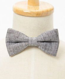 Brown Bow Charcoal Formal Bow - Grey