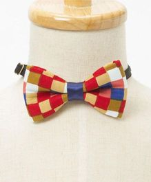 Brown Bows  Carnival Checks Bow - Multicolor