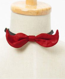 Brown Bows Mustache Bow - Maroon