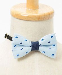 Brown Bows Paisley Print Formal Bow - Blue