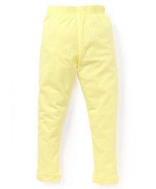 Cucu Fun Solid Color Leggings - Yellow