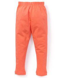 Cucu Fun Solid Color Leggings - Orange