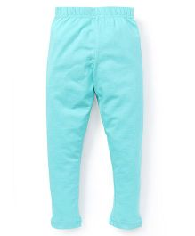 Cucu Fun Solid Color Leggings - Sea Green