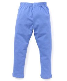 Cucu Fun Solid Color Leggings - Blue