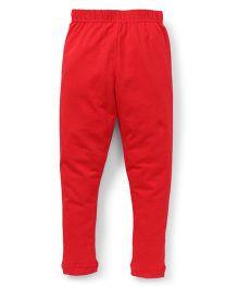 Cucu Fun Solid Color Leggings - Red