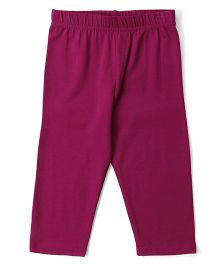 Cucu Fun Solid Colour Capri Leggings -  Purple