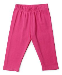 Cucu Fun Solid Colour Capri Leggings - Pink