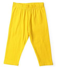 Cucu Fun Solid Colour Capri Leggings - Yellow