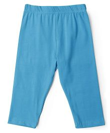 Cucu Fun Solid Colour Capri Leggings - Sky Blue