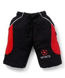 Cucu Fun Shorts With Football Patch - Black