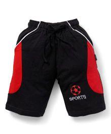 Cucu Fun Shorts With Football Patch - Black