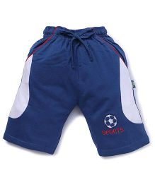 Cucu Fun Shorts With Football Patch - Blue