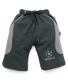 Cucu Fun Shorts With Football Patch - Green