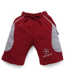 Cucu Fun Shorts With Football Patch - Maroon