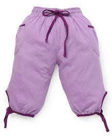 Cucu Fun Capri With Tie Up Hem - Purple