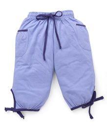 Cucu Fun Capri With Tie Up Hem - Light Blue