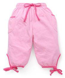 Cucu Fun Capri With Tie Up Hem - Light Pink
