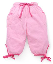 Cucu Fun Capri With Tie Up Hem - Light Pink