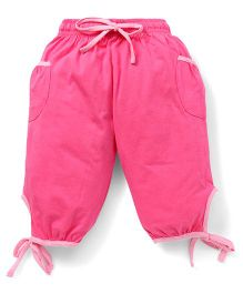 Cucu Fun Capri With Tie Up Hem - Pink