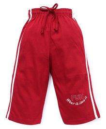 Cucu Fun Three Fourth Pants - Red