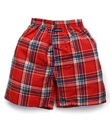 Cucu Fun Check Shorts - Red