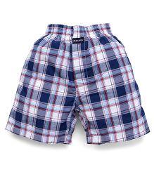 Cucu Fun Check Shorts - Dark Blue White