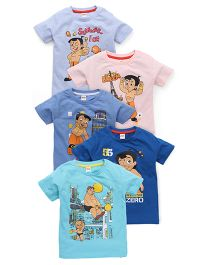 Chhota Bheem Half Sleeves T-Shirt Pack Of 5 - Multicolor