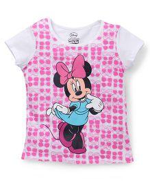 Eteenz Short Sleeves Tee Minnie Print - White Pink