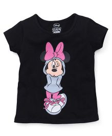 Eteenz Short Sleeves Tee Minnie Print - Black