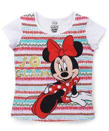Eteenz Short Sleeves Tee Minnie Print - White Multicolor
