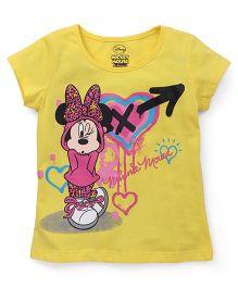 Eteenz Short Sleeves Tee Minnie Print - Yellow