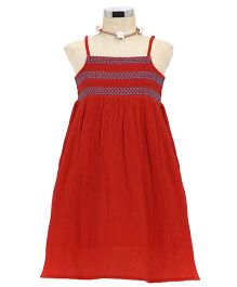 Dress My Angel Beach Smocked Dress - Red