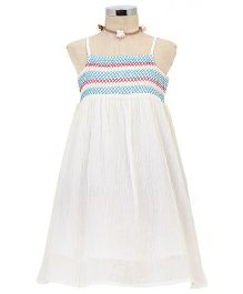 Dress My Angel Beach Smocked Dress - White