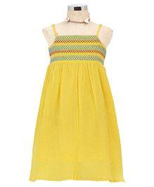 Dress My Angel Beach Smocked Dress - Yellow