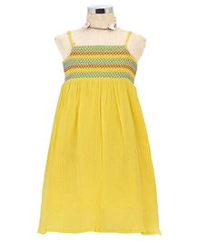 Dress My Angel Beach Smocked Dress - Yellow
