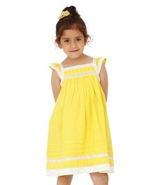Dress My Angel Lovely Lace Dress - Yellow