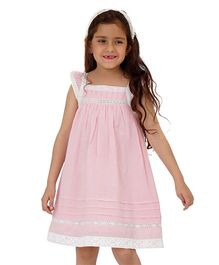 Dress My Angel Lovely Lace Dress - Pink