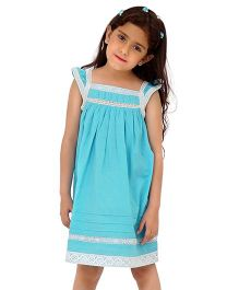Dress My Angel Lovely Lace Dress - Blue