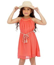 Dress My Angel Dream Catcher Dress With Styling Belt - Pink