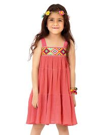 Dress My Angel Free Spirited Boho Dress - Pink